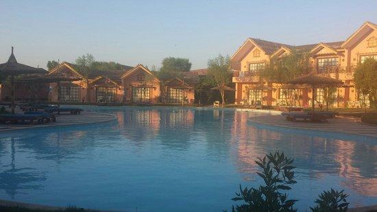 Jungle Aqua Park : Uitzicht vanuit je huisje!! Ideaal met kids..