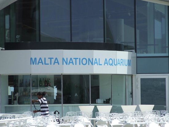 Malta National Aquarium: front of the building