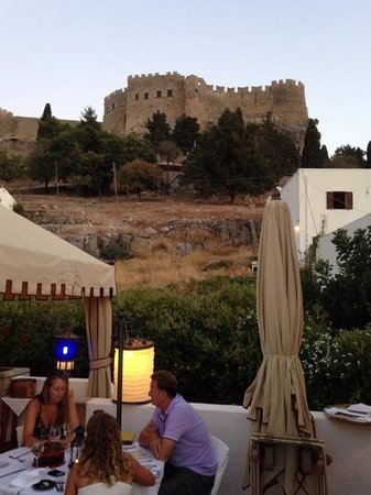 Melenos Roof Top Dining: acropolis view