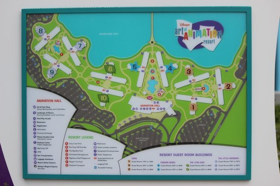 Hotel Grounds , Map , Picture of Disney\u0027s Art of Animation