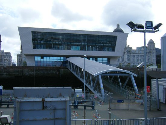 Manchester Ship Canal: view from ferry towards pier head