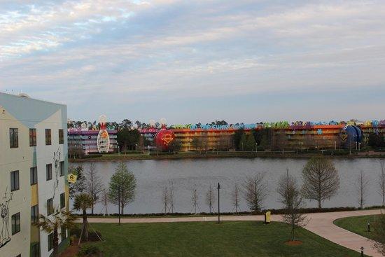 Disney's Art of Animation Resort: View from room (Pop Century across)
