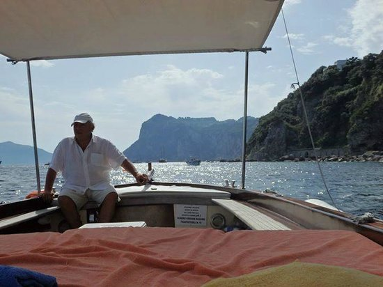 Gianni's Boat: Antonio, our guide