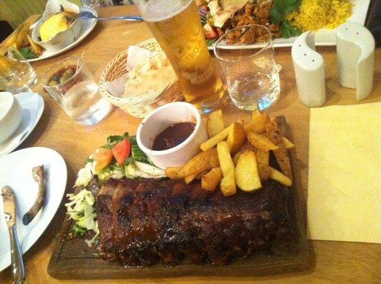 Marimonte: Ribs, chicken shawarma and moussaka