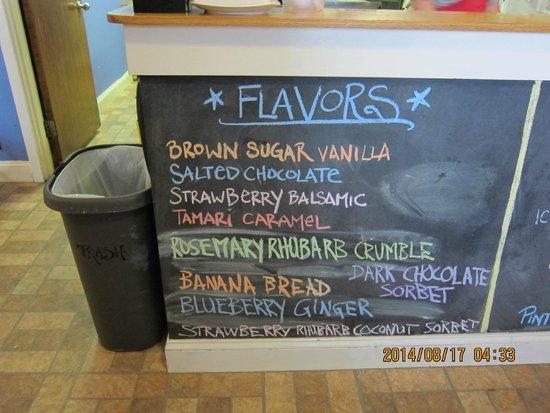 Catbird Creamery: menu