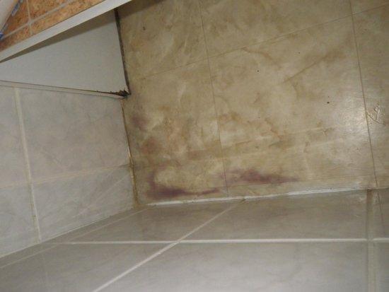 Domaine Les Tamaris et Les Portes du Soleil : meuble salle de bain pourri car moisi