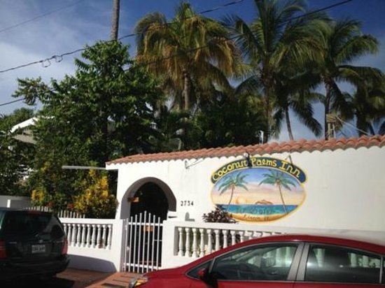 Coconut Palms Inn: Front door