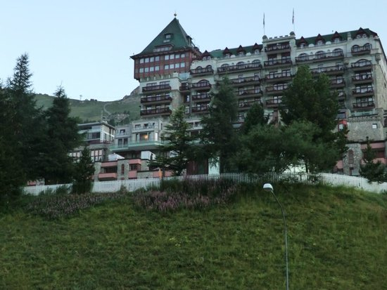 Badrutt's Palace Hotel: The back of the hotel, which overlooks the lake.