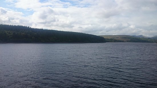 Pontsticill, UK: lake,rear of b&b