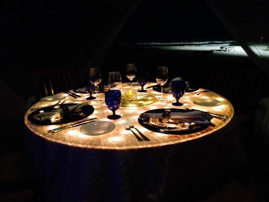 Ritz-Carlton Cancun: Dinner in the cabana