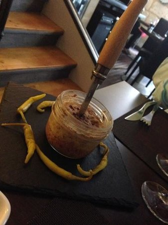 Bistrot L' Exploit: the jar of duck and hazelnut pate