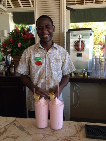 Sandals Montego Bay: Two Jamaican Smiles served by a smiling Jamaican.