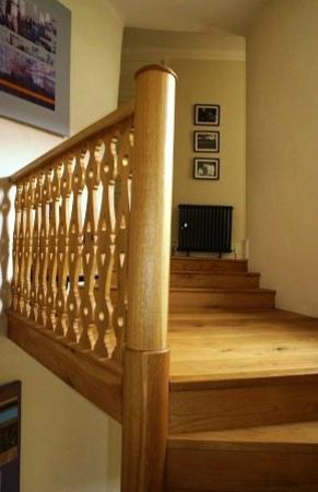 At The Manor: Oak stair case