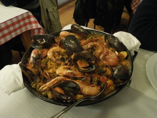 Restaurante La Palmera : Paella Marinera