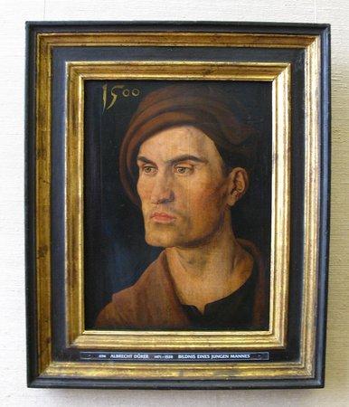 Alte Pinakothek : Albreht Durer 1471-1528 Bildnis Eines Jungen Mannes (Portrait Of A Young Man)