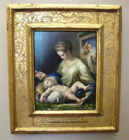 Alte Pinakothek : PARMIGIANINO 1503-1540 Maria mit dem kind (Maria with the child)