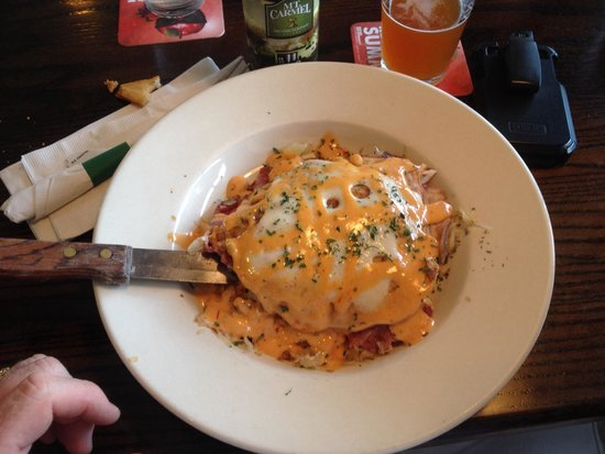 McCarthy's: Two pancake sandwich, eat with fork