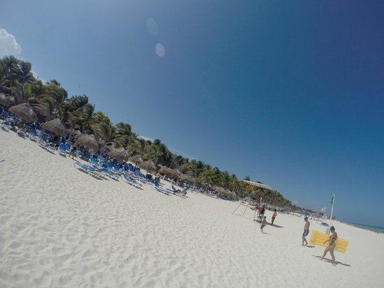 Viva Wyndham Azteca : vista completa playa