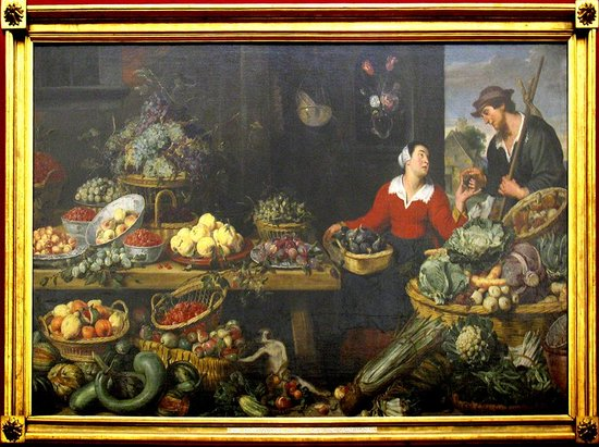 Alte Pinakothek : Frans Snyders  1579-1657 OBST UND GEMUSELADEN  (Fruit and vegetable store)