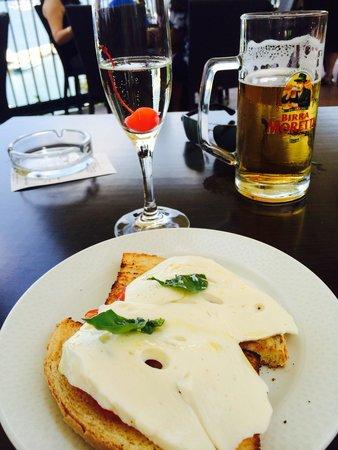 Bruschetta with mozzarella - Picture of Terrazza delle Sirene ...