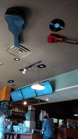 Wired Bean Coffee House: the ceiling