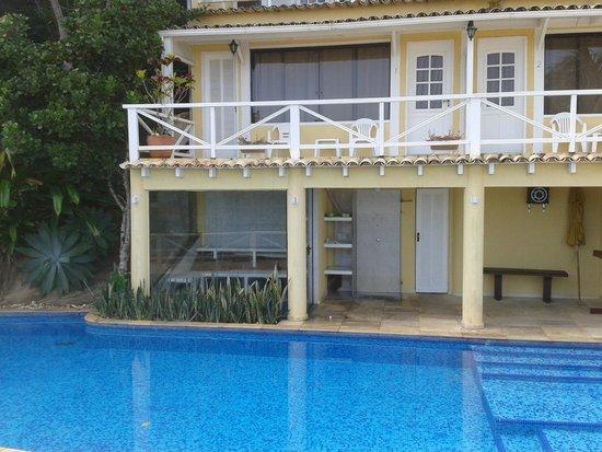Hotel Pousada e Spa Villa Mercedes: Habitaciones desde la pileta
