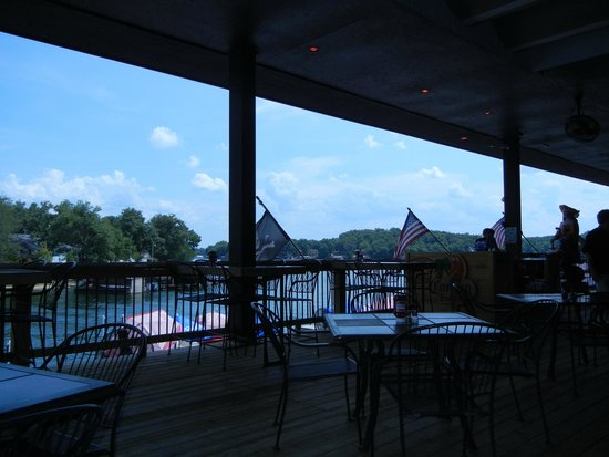 Jolly Rogers Grub and Grog: View from deck restaurant