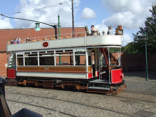 Beamish Museum: Open=topped bus