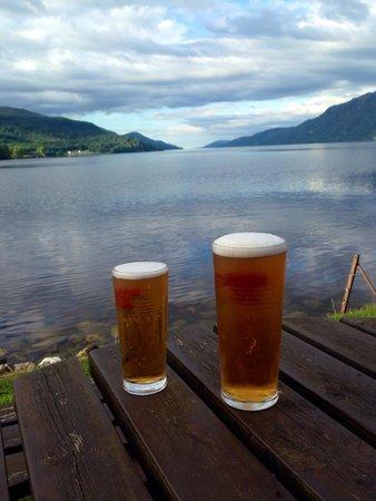 The Boathouse Lochside Restaurant: Enjoying the view