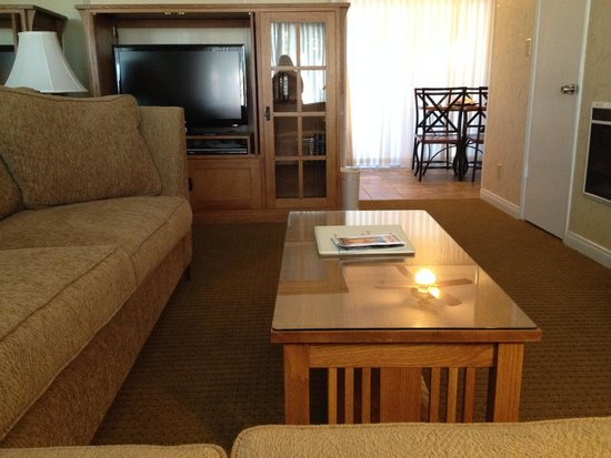 BEST WESTERN PLUS Encina Lodge & Suites: Sofa blocking TV