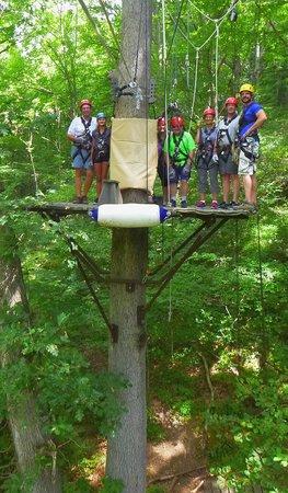 Navitat Canopy Adventures - Asheville Zipline: Our zip group 8-20-'14