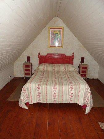 Le Pont Ricoul: notre lit à l'étage