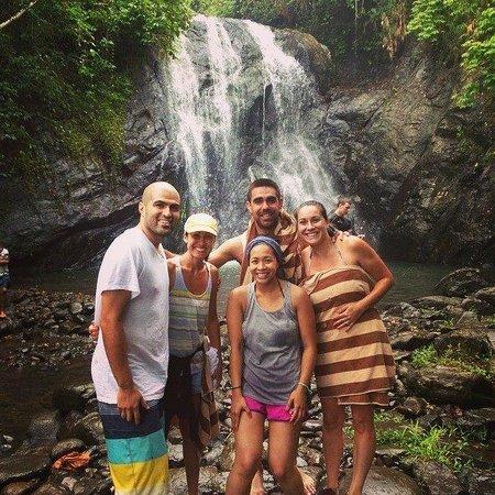 Koro Sun Resort and Rainforest Spa: waterfall trip