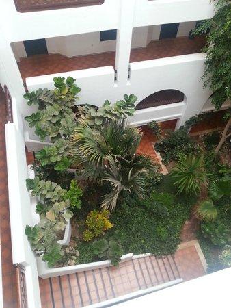 Hotel Riu Tikida Beach: Сад внутри отеля