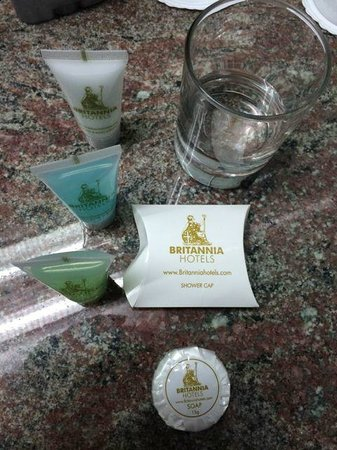 Britannia International Hotel: Soap and other items