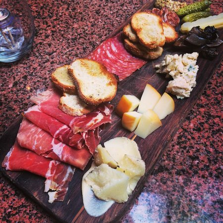 Ferro Bar & Cafe: Antipasto Calabrese with housemade artisinal cured meats & cheese, pickled vegetables, spreads