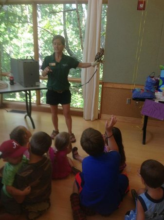 Ruffner Mountain Nature Preserve: Learning about the owls