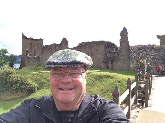 Urquhart Castle: Me and the Castle Ruins