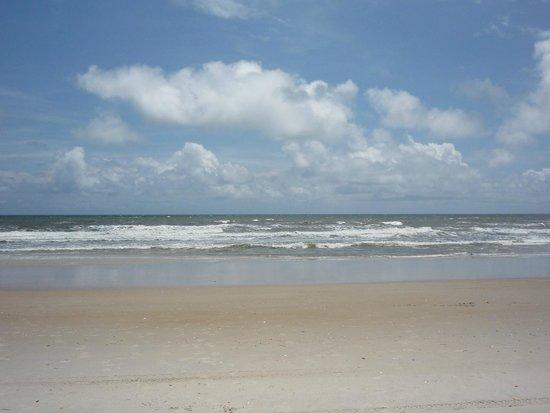 Topsail Island: the beach at Surf City, NC
