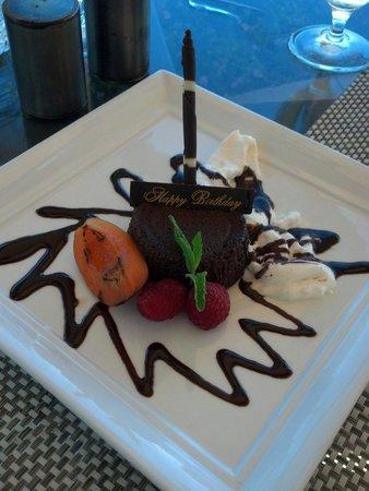 Bacara Resort & Spa: Complimentary Birthday cake at The Bistro!