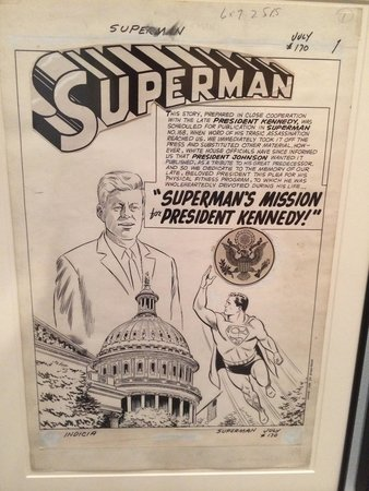 John F. Kennedy Presidential Museum & Library : Even a comic specially for the JFK elections. Art work and all