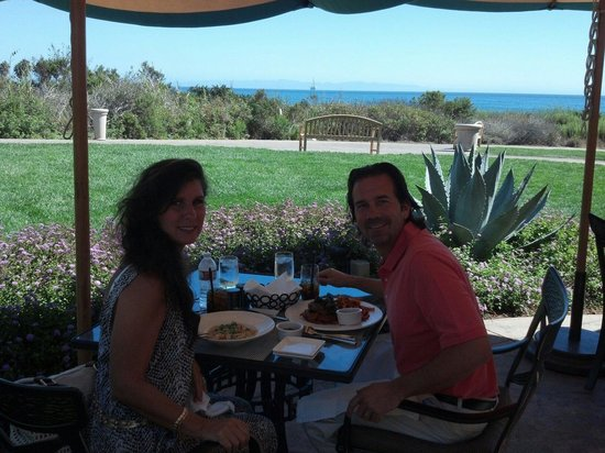"The Ritz-Carlton Bacara, Santa Barbara : Fantastic serene oceanview from our table at ""The Bistro"""