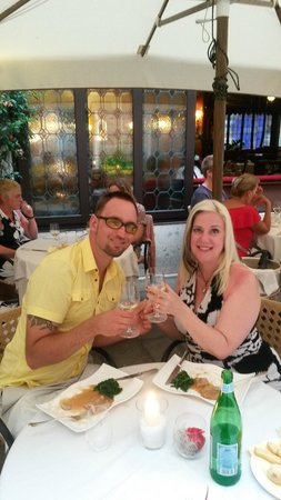 Our last night in Venice, a romantic dinner at Taverna La Fenice