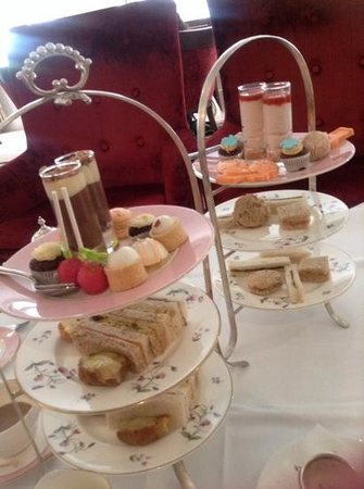 The Royal Horseguards : on the right childrens tea,on the left adult tea.
