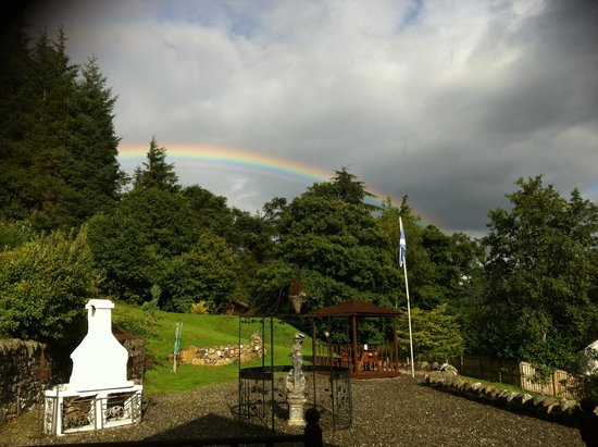 Briar Cottages: View of a beautiful rainbow from Little Briar