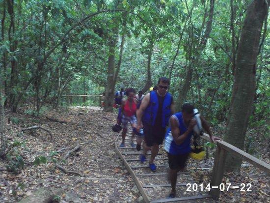 Damajaqua Cascades (27 Waterfalls): Walking up