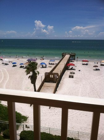 Sand Dollar Condominiums: View of pier from our balcony