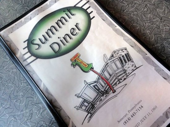 Summit Diner Menu