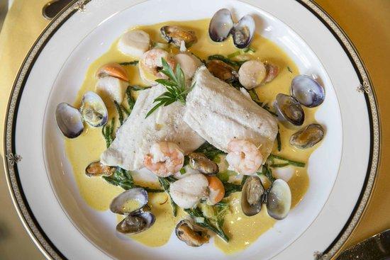 La Fleur de Lys: Turbot with Shellfish