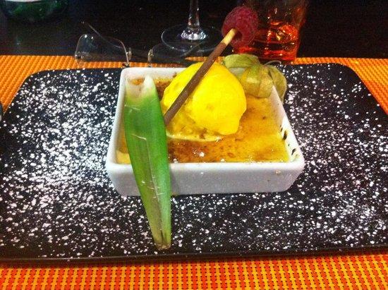 Le Coelacanthe : Crème brûlée à l orange. Un vrai délice.